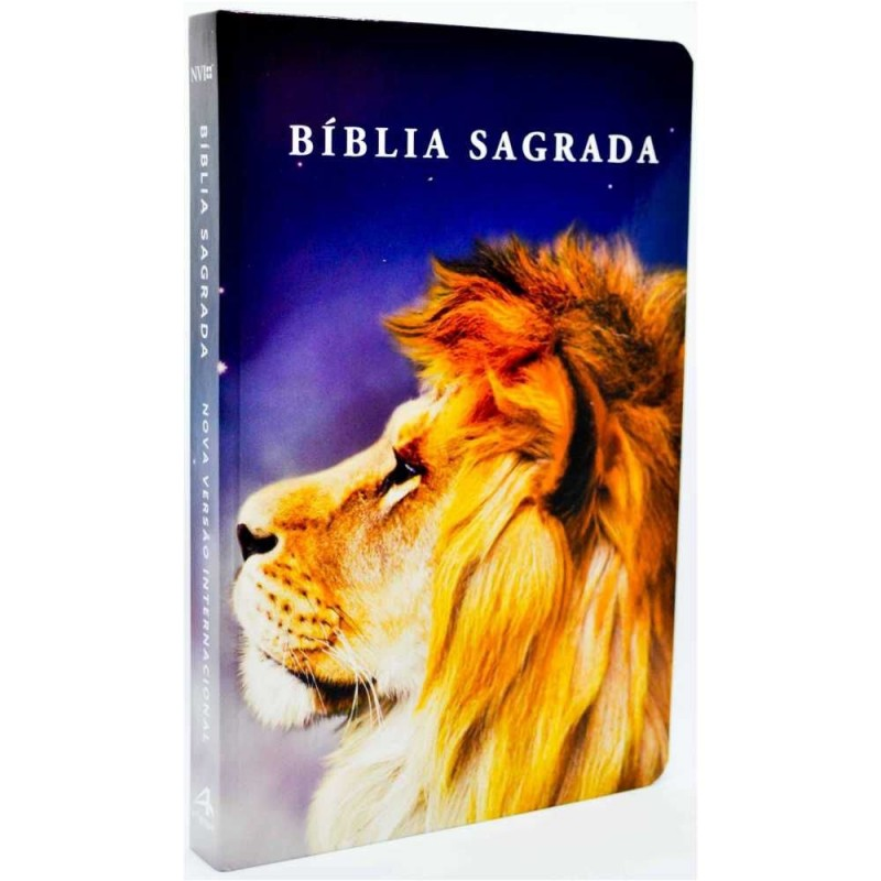Bíblia Nvi Slim Leão Color