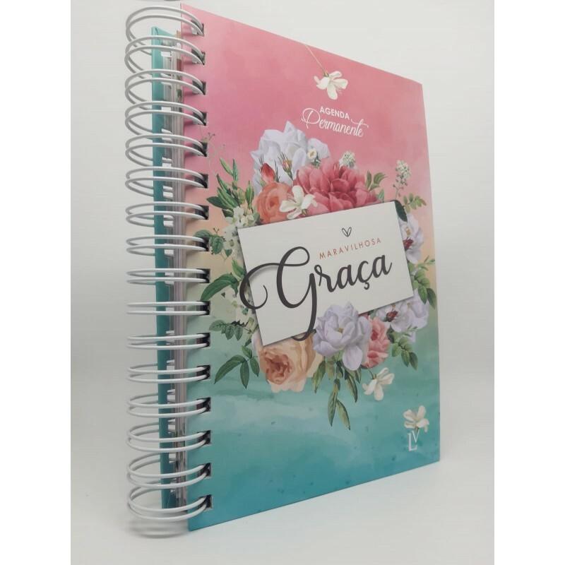 Agenda Maravilhosa Graça Permanente  | Grande | Flores