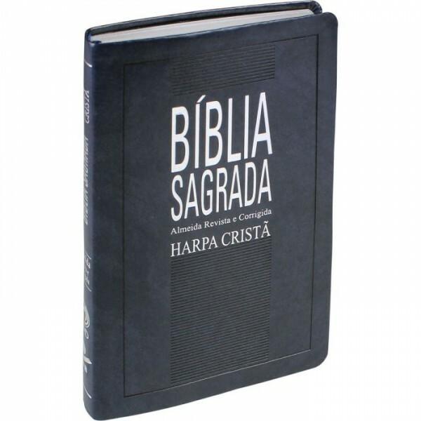 Bíblia Sagrada | com Harpa Cristã | Capa Sintética | Azul Nobre | ARC65H