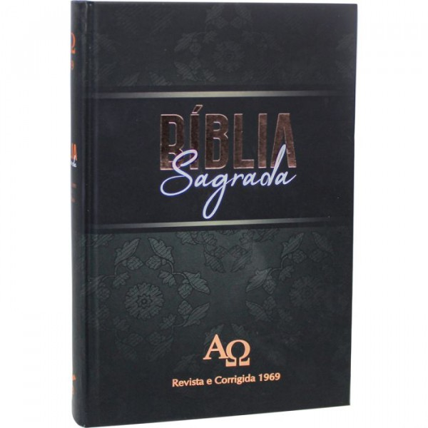 Bíblia Sagrada   Letra Gigante   Capa Dura   Preta   RC 1969   D063LGLV