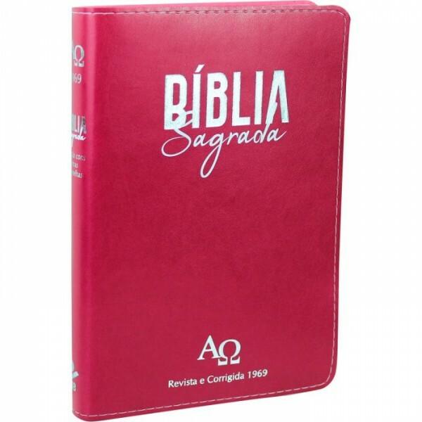 Bíblia Sagrada | Letra Grande | RC 1969 | Rosa Escuro | D065TILGLV
