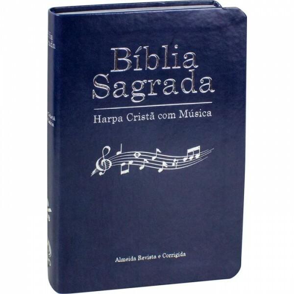 Bíblia Sagrada   Harpa com Musica   Azul Alpha  ARC65HCM