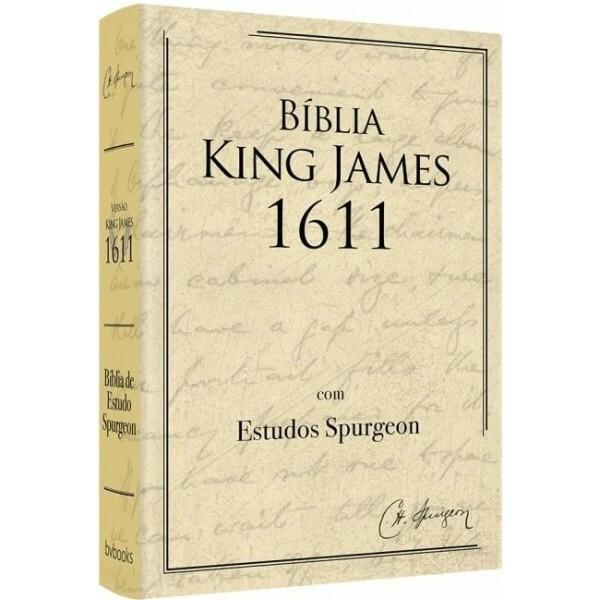 Bíblia de Estudo Spurgeon   BKJ 1611 Fiek   Bege