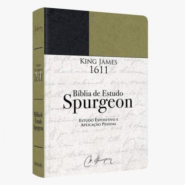 Bíblia de Estudo Spurgeon   BKJ 1611 Fiel   Verde