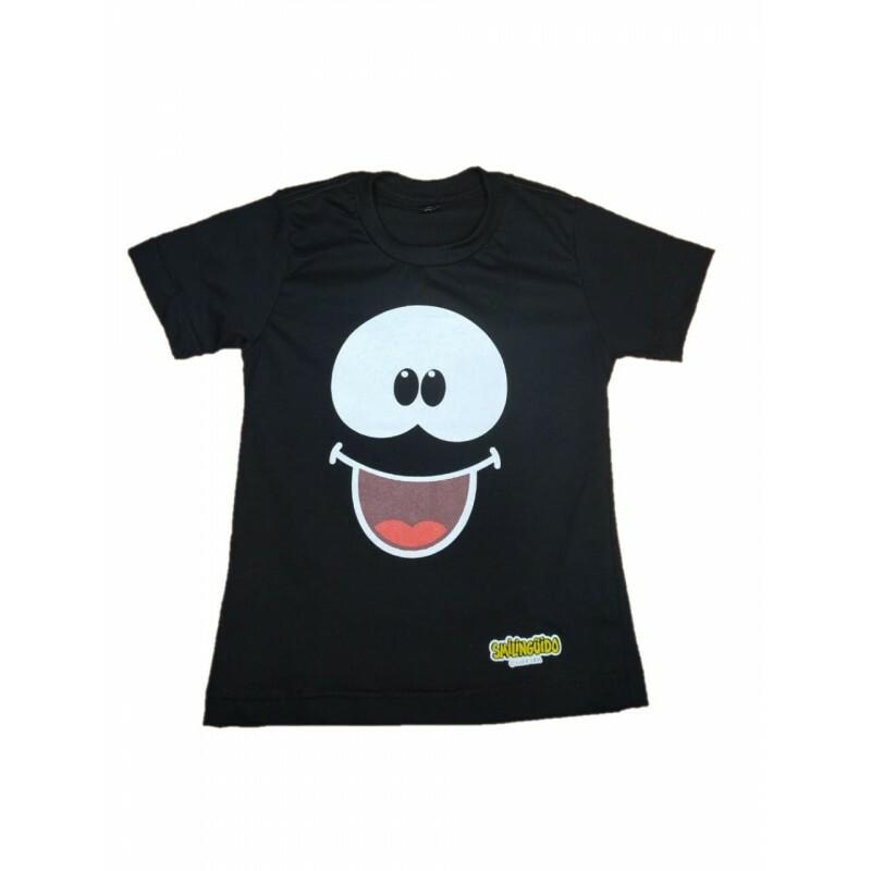 Camiseta Smilinguido | Preta | Frente e Verso