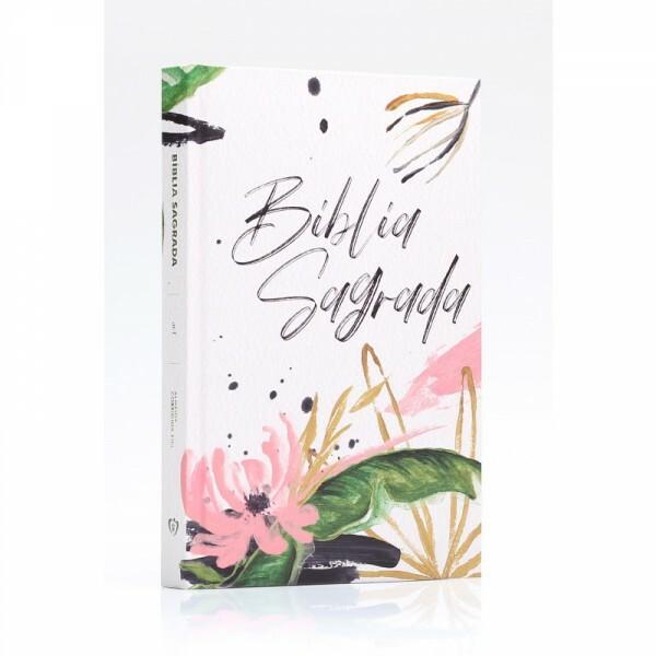 Bíblia Sagrada | ACF | Floral branca | Capa dura