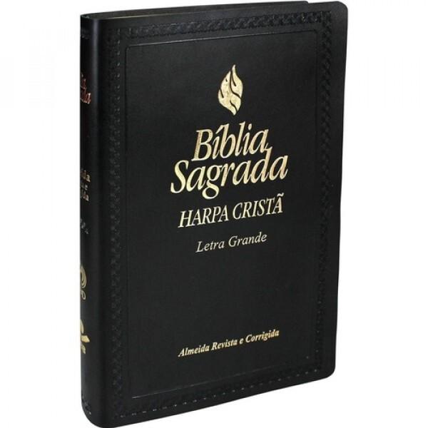 Bíblia Sagrada | Com Harpa Cristã | Capa Preta | Letra Grande | ARC065HLG