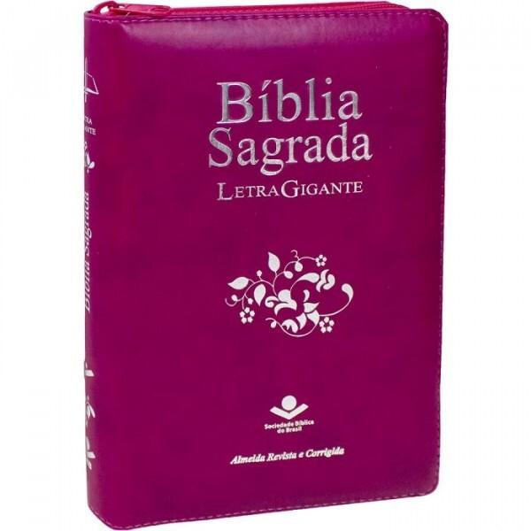 Bíblia Sagrada | Almeida RC | Letra Gigante | Com Zíper | Vinho