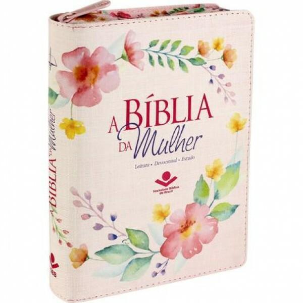 A Bíblia da Mulher | Almeida RC | Zíper e rosa