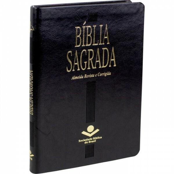 Bíblia Sagrada   Capa Couro Sintético   Preta   ARC65