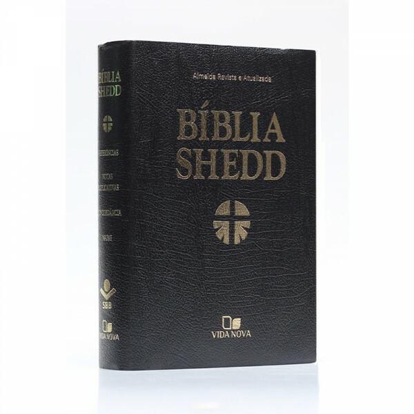 Bíblia Shedd | Capa convertex | Preta | ARA