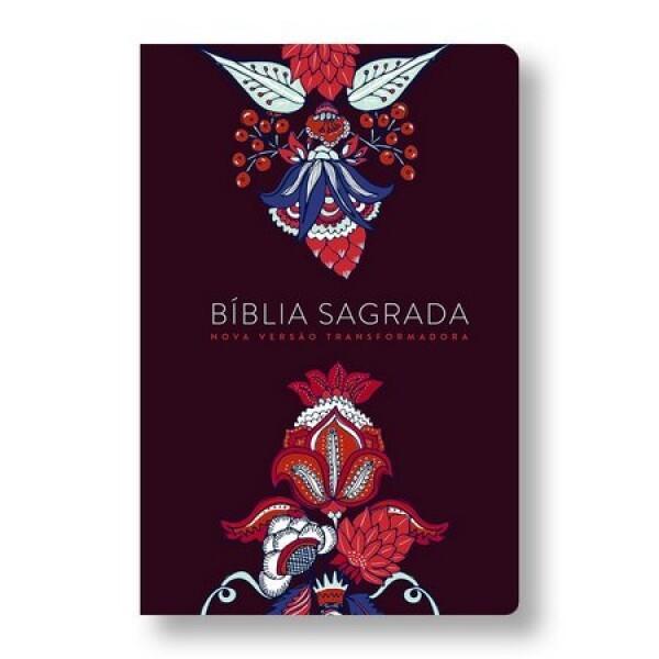 Bíblia Sagrada   NVT   Soth Touch   Indian Flowers   Vinho   Letra Grande