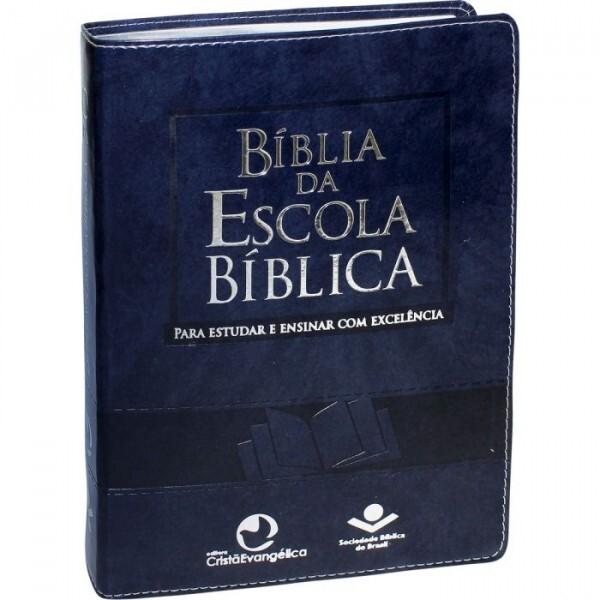 BÍblia da Escola Bíblica | Capa Azul Nobre | RA085TIBEB