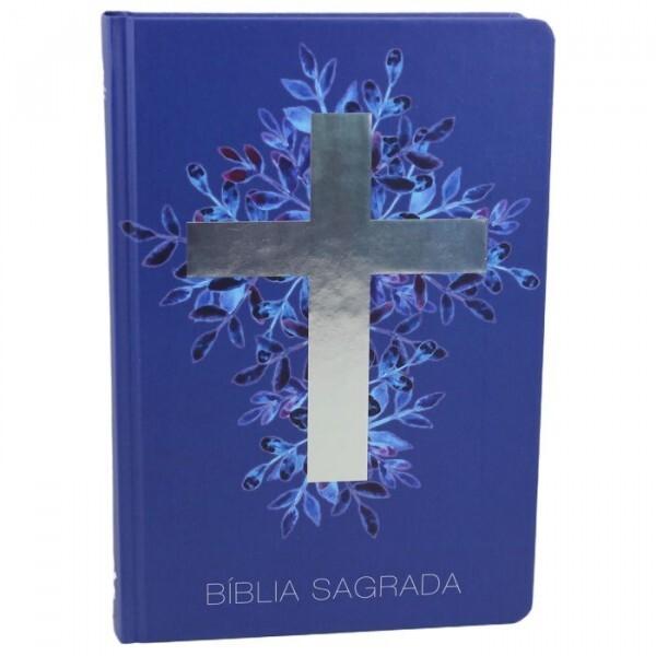 Bíblia Sagrada | Cruz | Capa azul | NA63M