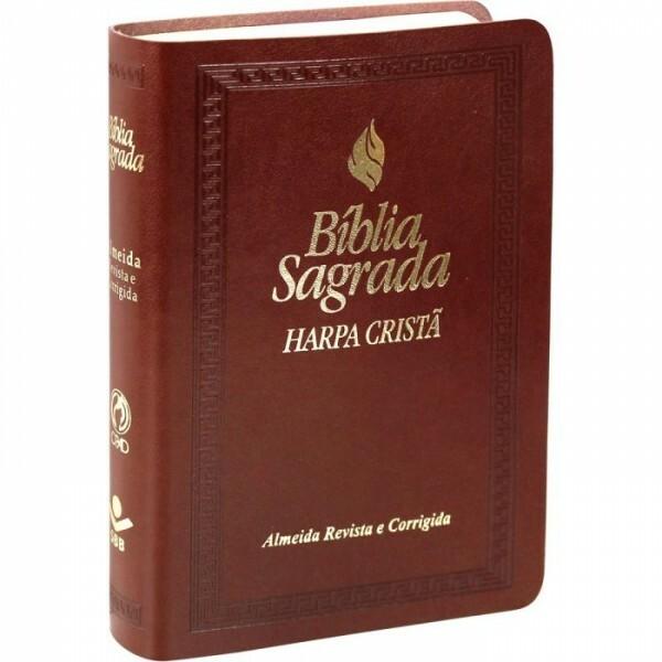 Bíblia Sagrada   Com Harpa   Marrom Escuro   ARC045HLMFB