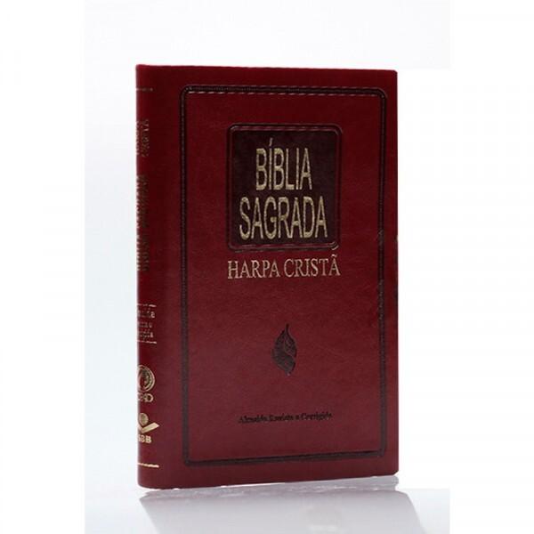 Bíblia Sagrada   Com Harpa   Capa Sintética   Alpha Vinho   ARC65H