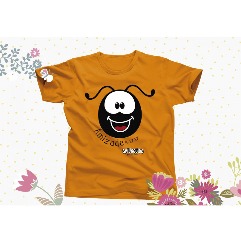 Camiseta Smilinguido Marrom