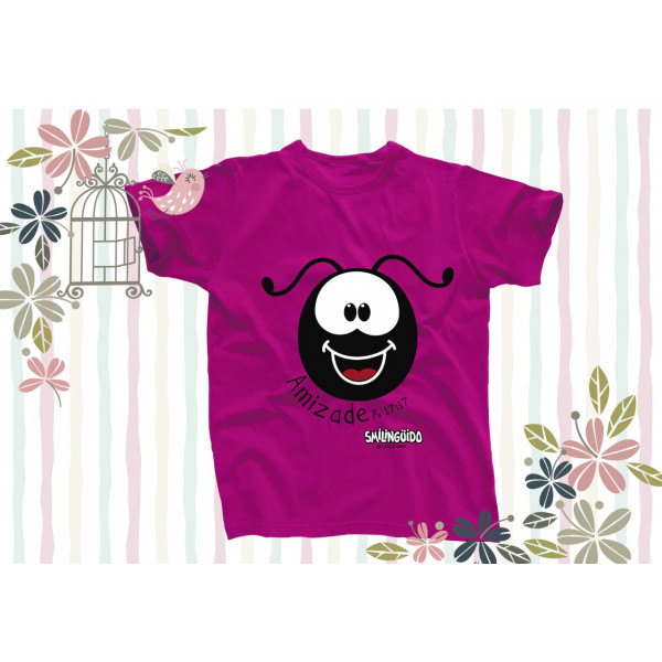 Camiseta Smilinguido  Rosa